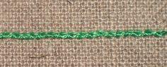 Portuguese knotted stem stitch8