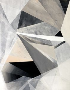 Chalky Geometrics - graphic monochromatic surface pattern inspiration // Russell Leng