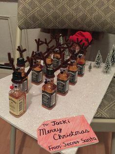 Jack Daniels Reindeer and Santa Coke. My gift for my secret Santa this year.