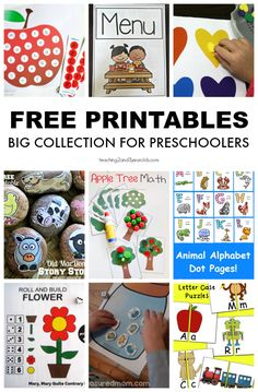 Looking for some free preschool printables? This collection has a little bit of everything, and can be used in the classroom or at home! #printables #preschool #teachers #homeschool #classroom #AGE3 #AGE4 #kidsactivities