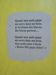 1000 images about fete des peres on pinterest bricolage petite section and father 39 s day - Poesie fete des peres ...