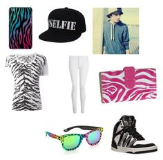 """""""zebra outfit"""" by kylee-bannister ❤ liked on Polyvore featuring Yves Saint Laurent, Whistles, adidas, Italia Independent, Buxton and Case-Mate"""