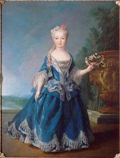 Marie-Anne-Victoire, Infante d'Espagne (1718-1788), présentée devant la pièce d'eau des Suisses en 1725, par Alexis Simon Belle (1674-1734).  Infanta Mariana Victoria of Spain (Portuguese: Mariana Vitória) (31 March 1718 – 15 January 1781) was Queen consort of Portugal and the Algarves as the wife of Joseph I.