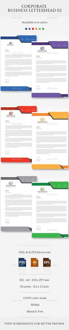 Business Letterhead Letterheads Pinterest Letterhead and - business letterhead