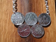 Olympic Rings Coin Necklace