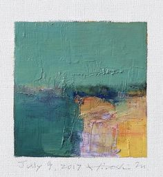July 9 2017 Original Abstract Oil Painting 9x9 painting