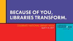 National Library Week 50 strategies to celebrate