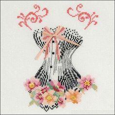 0 point de croix corset romantique - cross stitch romantic corset