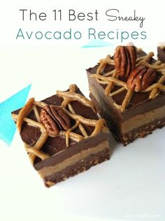 Raw Salted Chocolate Pecan Pie Brownies -- I'd use honey instead of agave. Raw Desserts, Gluten Free Desserts, Delicious Desserts, Just Desserts, Best Vegan Chocolate, Salted Chocolate, Chocolate Recipes, Decadent Chocolate, Avocado Recipes