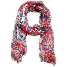 MANGO Paisley print foulard ($35) found on Polyvore