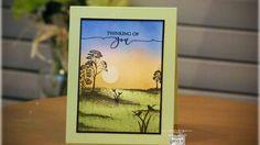 Partial Framescape Simply Spring Card