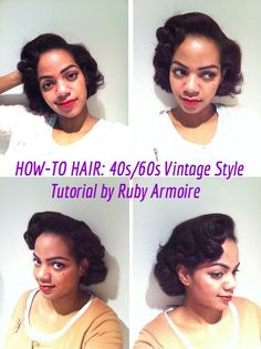 HOW-TO HAIR: Ruby Armoire's beautiful 1940s-1960s Hairstyle Tutorial.