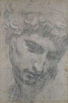 Jacopo Robusti, called Tintoretto (1518‒1594) - Head of Giuliano de'Medici, after Michelangelo