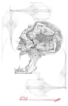 In the man's brain