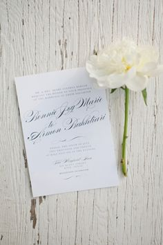 classic white + black invitation | Caroline Joy