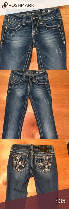 Miss Me Bootcut Jeans nice condition 25x33 Miss Me Bootcut Jeans nice condition 25x33 Miss Me Jeans
