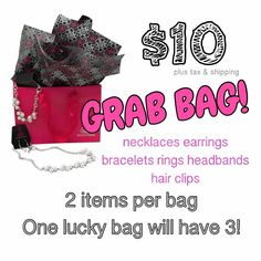 $10 Grab Bags are now available join me on Facebook! This is a super fun idea for gifts!