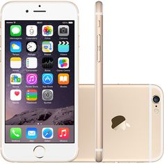 iPhone 6 16GB Dourado iOS 8 4G Wi-Fi Câmera 8MP - Apple