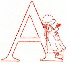 Sunbonnet Alfabeto - diseños de bordado de la máquina