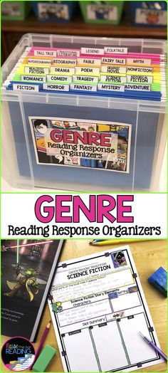 Genre Activity: Genre Graphic Organizers for Reader Response, EDUCATİON, These genre graphic organizers are a perfect resource for reader& response notebooks or interactive notebooks in your classroom! Each genre organ. Genre Activities, Reading Activities, Teaching Reading, Guided Reading, Reading Time, Learning, Teaching Second Grade, 4th Grade Reading, Reading Stations