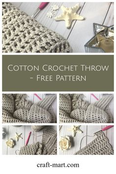 This easy DIY crochet summer project is easy and fun. You'll create a modern cotton throw with a distinctive herringbone pattern - perfect for a warm cozy evening under the stars.