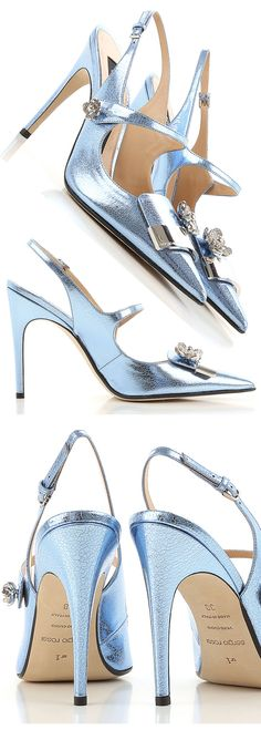 Sergio Rossi Metallic Blue Heels. Perfect for a Mother of the Bride in a Taffeta Satin Outfit. Summer wedding #motherofthebride outfits, ideas and inspiration. Designer Shoes for weddings. #shoes #shoeaddict #fashionista #blueshoes #metallicfashion #metallicshoes #heels #weddings #affiliatelink #sergiorossi