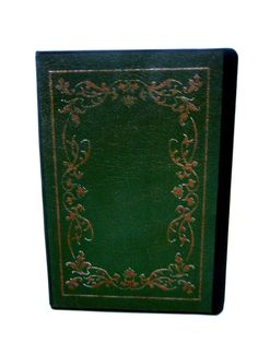 Antique looking green book cover notebook by MegiBead on Etsy Green Books, Dictionary Art, Notebook, Art Prints, Antiques, Unique Jewelry, Handmade Gifts, Cover, Etsy