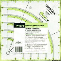 "Omnigrip Non-Slip Neon Ruler - OmniArc Circle Cutter - 8"" Square"