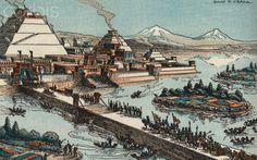 Tenochtitlan City of Aztecs in Ancient Mexico
