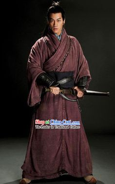 Three Kingdoms General Lv Bu Costumes Complete Set for Men