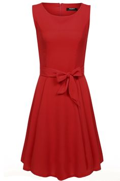 Zeagoo Women Chiffon Summer Sleeveless A-line Pleated Party Cocktail Dress With Belt at Amazon Women's Clothing store:  https://www.amazon.com/gp/product/B01CGE8QMG/ref=as_li_qf_sp_asin_il_tl?ie=UTF8&tag=rockaclothsto-20&camp=1789&creative=9325&linkCode=as2&creativeASIN=B01CGE8QMG&linkId=aad8136a9b93d69ed4b4695e90271731