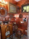 Steampunk Bathroom by Laurel Skye Mosaic Bathroom, Small Bathroom, Bathroom Ideas, Bathrooms, Steampunk Interior, Steampunk House, Steampunk Bathroom, Apple Service, Industrial Interiors