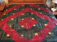 FREE SHIP THRU 7/31 Star Light, Star Bright Beautiful Holiday Christmas Quilt