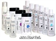 John Paul Pet by Paul Mitchell - This makes my fur babies (2 kitty's) soooo soft and smooth.  They absolutely HATE a bath so this is a life saver to keep their skin healthy and shiny!