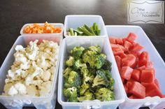 Precut Veges in Tupperware Containers last up to 2 weeks....