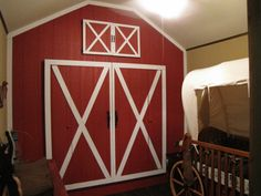 western+cowboy+theme+baby+room+ideas | Luke's Cowboy Room, , Turned this wall into the front of a barn ...