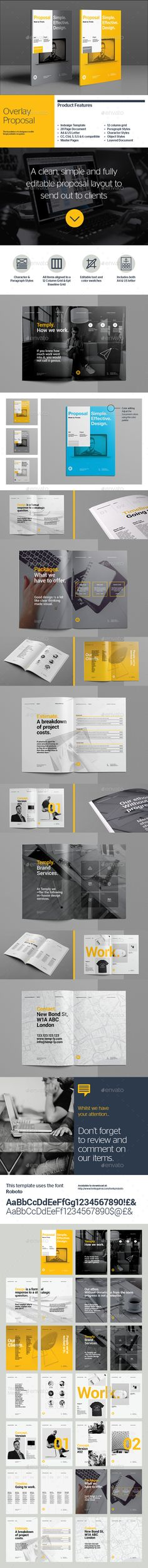 Proposal Template u2014 Photoshop PSD #company proposal #corporate - proposal template