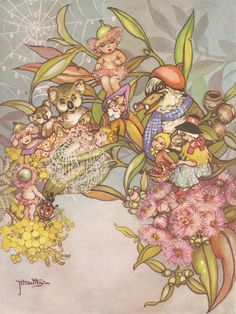 The first peep *❀* Peg Maltby. Flower Fairies, Flower Art, Baby Artwork, Fairy Paintings, Fairytale Art, Australian Art, Fairy Art, Faeries, Illustrators