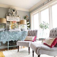 Loving this Christmas decor! : @angelascozyhome . . . #falalafarmhouse #yourdecorstyle #hollyjollyhomedecor #farmhousestyle #christmasiscoming #christmas2016 #christmascountdown #holidaydecor #makehomeyours #allforcolor #enjoylifeincolor #abmlifeiscolorful #fashion #instaprep #preppy #preppystyle #livelifeincolor #color #instastyle  #gift #giftguide #christmas #instablogger #styleblogger