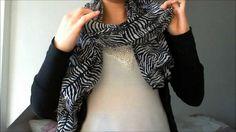 Schals richtig binden / How to wear a scarf / 6 Techniken.