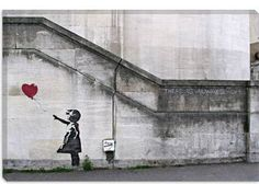 Banksy There Is Always Hope Balloon girl Print on Canvas - iCanvasART.com