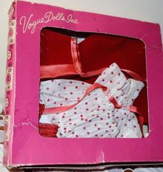 """VOGUE STRUNG 8"""" GINNY DOLL OUTFIT nr. Mint RED RIDING HOOD Frolicking Fables #VOGUE #VOGUE1950SSTRUNGGINNYDOLLOUTFITCLOTHES"""