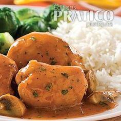 Hauts de cuisse de poulet, sauce chasseur - Recettes - Cuisine et nutrition - Pratico Pratique