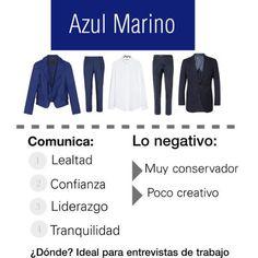Lo que dice el color Azul Marino.