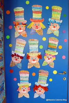Valentine Crafts For Kids, Mothers Day Crafts, Reggio Children, Clown Crafts, Diy And Crafts, Arts And Crafts, Circus Art, Shape Crafts, Pre Writing