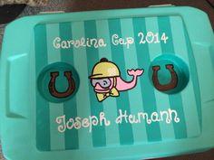 Carolina Cup cooler painting