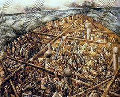 Navio de emigrantes, 1939-1941 Lasar Segall (Lituânia/Brasil, 1891-1957) óleo com areia sobre tela, 230 x 275 cm Museu Lasar Segall, São Paulo