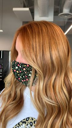 Copper Blonde Hair, Dyed Red Hair, Balayage Hair Blonde, Blonde Hair Red Roots, Blonde Orange Hair, Copper Balayage, Balayage Bob, Warm Blonde, Red Hair With Highlights