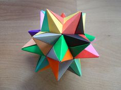 Kusudama modular origami . I feel an obsession coming on.
