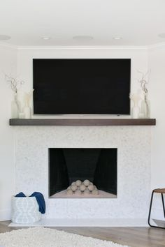 Fresh Modern Farmhouse Home FireplaceFireplace UpdateGas